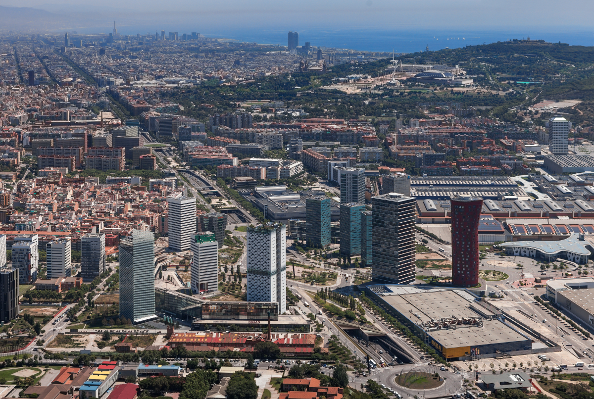Hospitalet district from the sky