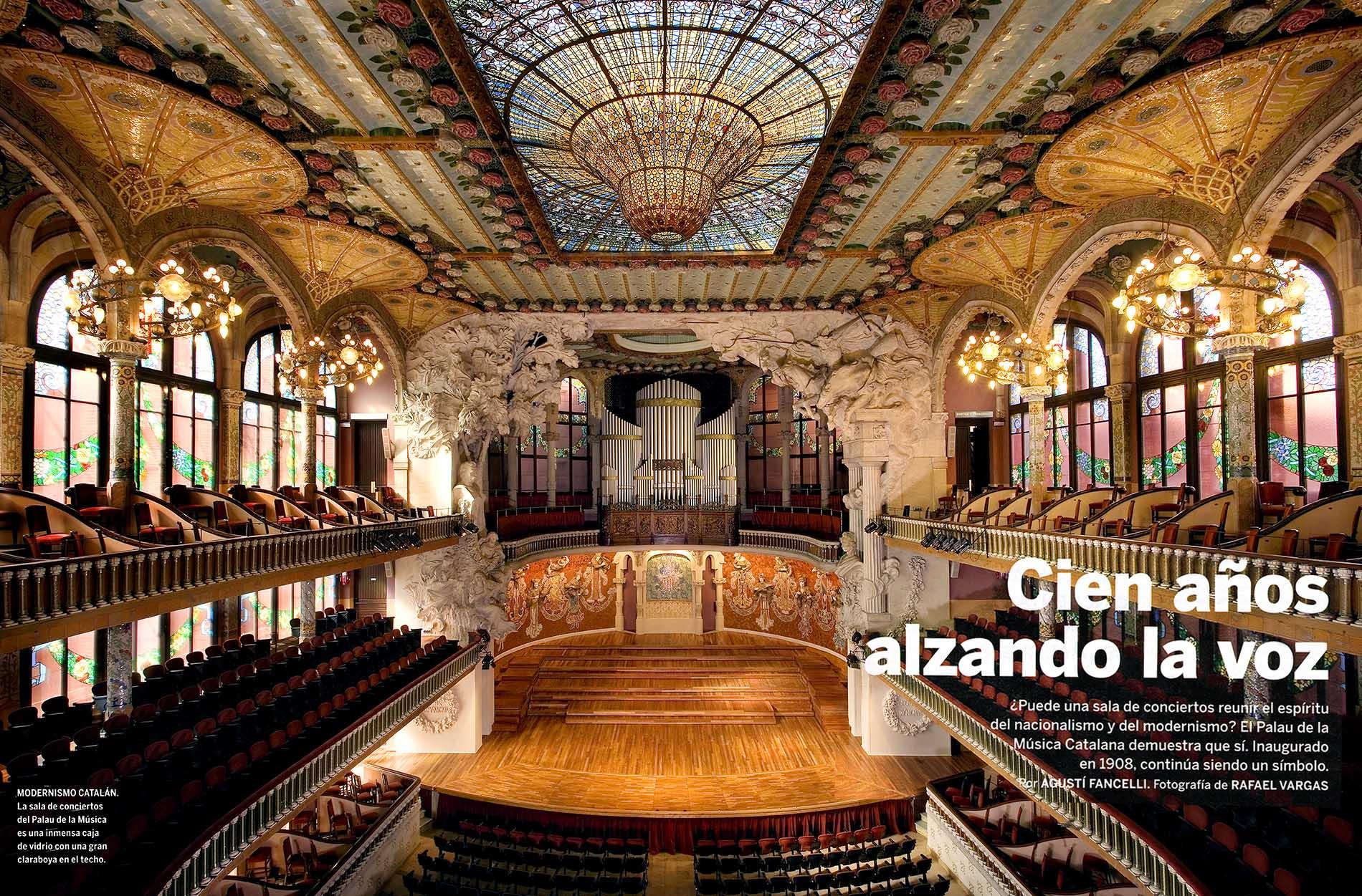 Palau de La Música Catalana de Barcelona.