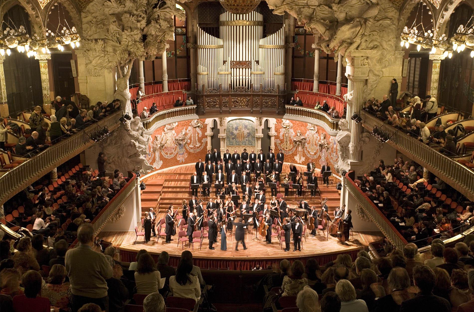 Palau de la Musica Catalana,Barcelona.Lluís Domènech i Montaner