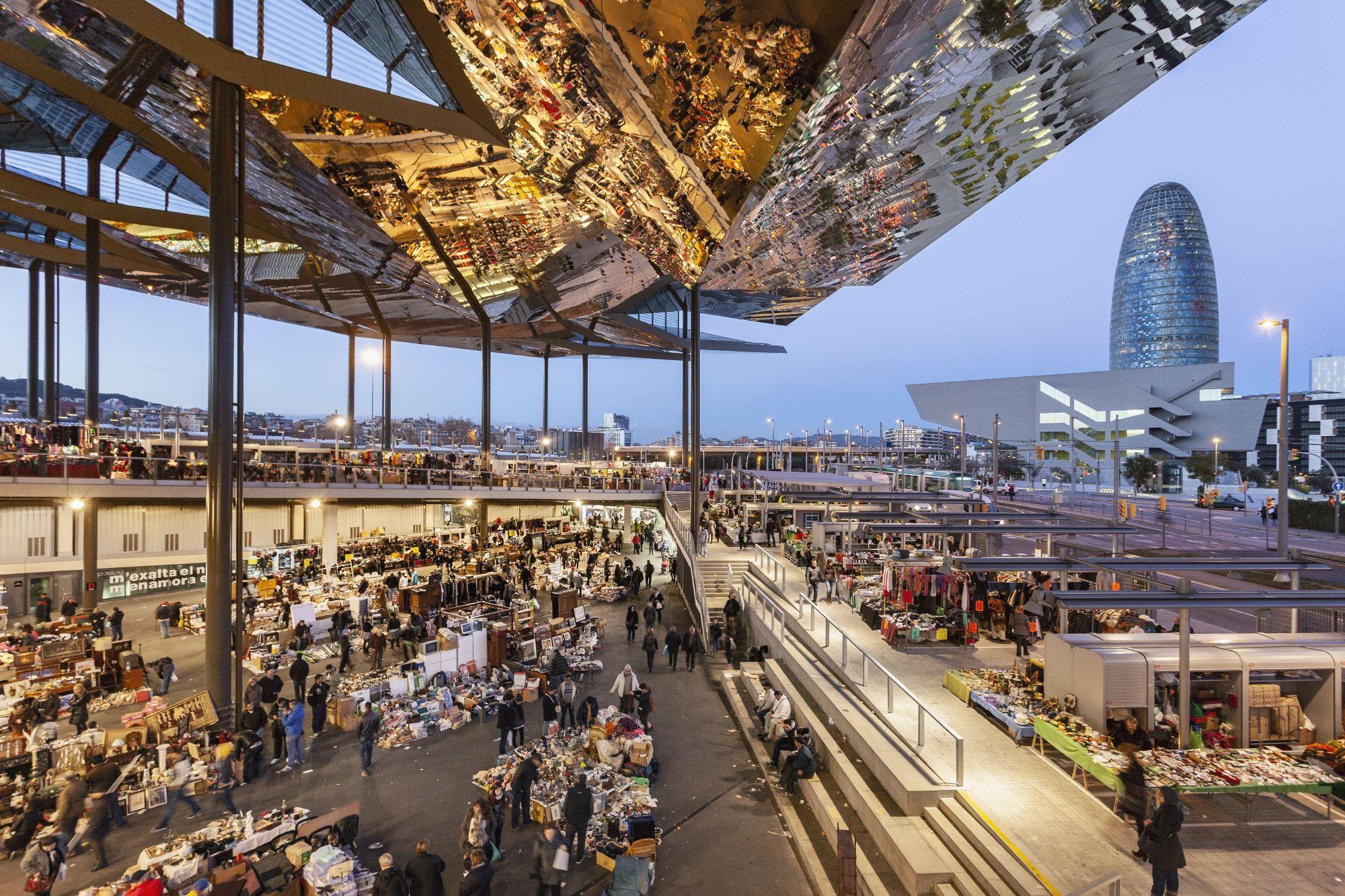 barcelona flea market, public space,architecture, mirrors, glories, b720 Architetcs, fermin vazquez, rafaelvargas photo