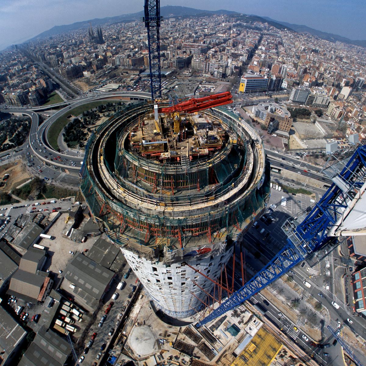 architecturephotography,barcelona,rafaelvargas photo,torre glories,merlin properties,concrete,hormigón,atelier jean nouvel,b720 arquitectos,fermín vázquez,underconstruction