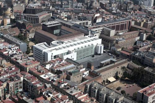 MACBA Museum Barcelona from the sky